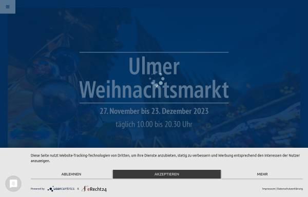 Vorschau von www.ulmer-weihnachtsmarkt.de, Ulmer Weihnachtsmarkt