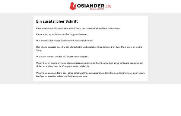 Vorschau von www.osiander.de, Osiandersche Buchhandlung GmbH