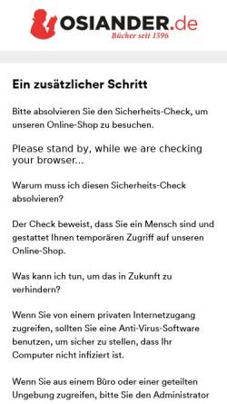 Vorschau der mobilen Webseite www.osiander.de, Osiandersche Buchhandlung GmbH