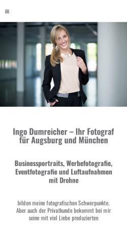 Vorschau der mobilen Webseite www.id-fotos.de, Ingo Dumreicher Fotografie