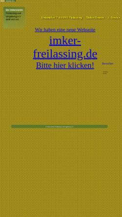 Vorschau der mobilen Webseite kbkk.de, Imkerverein Freilassing und Umgebung e.V.