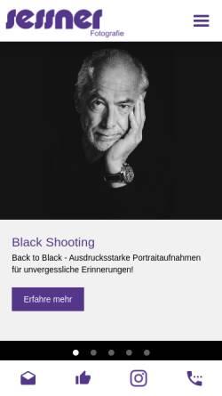 Vorschau der mobilen Webseite www.foto-sessner.de, Foto Shop Sessner