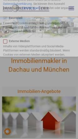 Vorschau der mobilen Webseite www.immoservice-eder.de, Immobilien-Service Eder