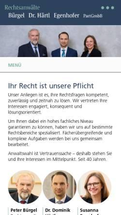 Vorschau der mobilen Webseite www.cbk-rechtsanwaelte.de, Cipa Bürgel Köpf Rechtsanwälte