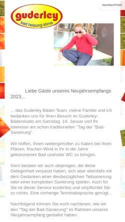 Vorschau der mobilen Webseite www.guderley.de, P. Guderley GmbH