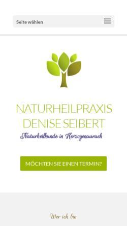 Vorschau der mobilen Webseite www.naturheilpraxis-deniseseibert.de, Naturheilpraxis Denise Seibert