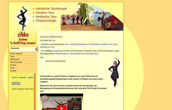 Vorschau von www.zibko.de, Zibko Tanztherapie