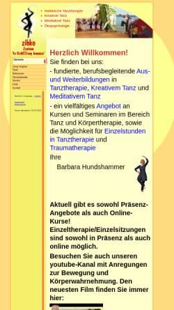 Vorschau der mobilen Webseite www.zibko.de, Zibko Tanztherapie