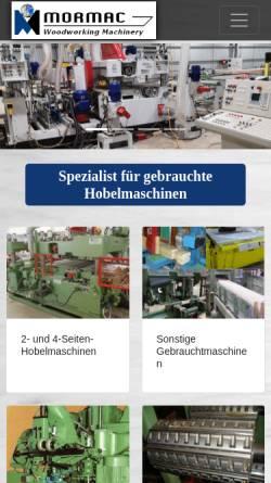 Vorschau der mobilen Webseite www.mormac.de, Mormac Machinery GmbH & Co. KG
