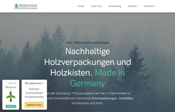 Vorschau von www.rebhan-holzverpackungen.de, Gebrüder Rebhan Holzwarenfabrik GmbH & Co. KG