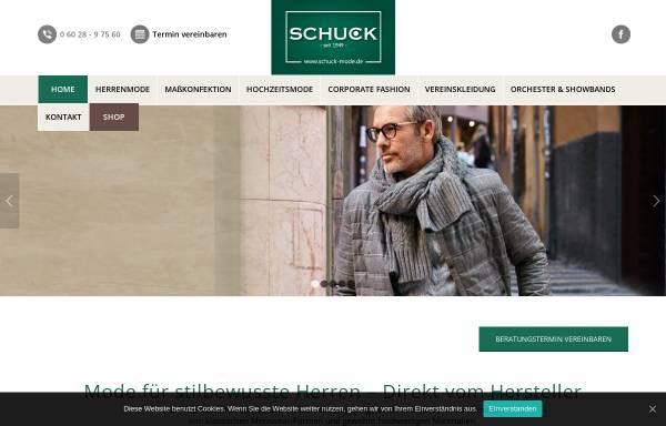 Vorschau von www.schuck-mode.de, Schuck GmbH & CO. KG