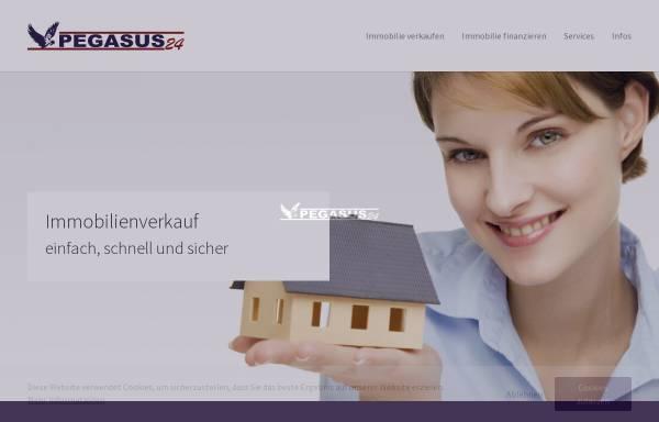Vorschau von www.pegasus24.com, Pegasus Gesellschaft für Immobilien-, Anlagen-, Finanzierungs- und Versicherungsvermittlung mbH