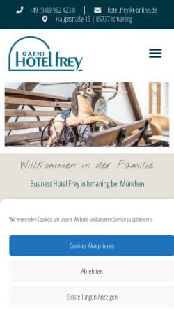Vorschau der mobilen Webseite www.hotel-frey.de, Hotel Garni Frey