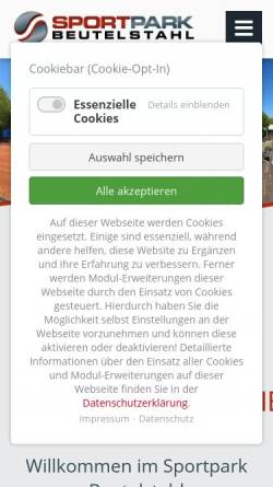 Vorschau der mobilen Webseite www.tennis-soccer-squash-muenchen.de, Sportpark Beutelstahl