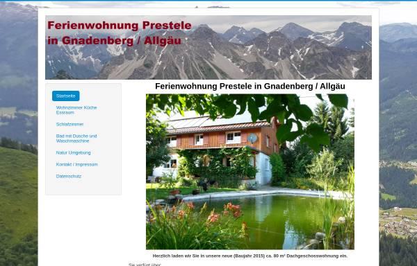 Vorschau von ferienwohnung-prestele.de, Ferienwohnung Prestele in Gnadenberg