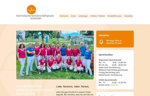 Vorschau von www.igp-sonthofen.de, Internistische Gemeinschaftspraxis Sonthofen