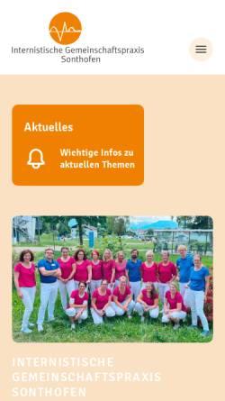 Vorschau der mobilen Webseite www.igp-sonthofen.de, Internistische Gemeinschaftspraxis Sonthofen