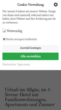 Vorschau der mobilen Webseite landhaus-grobert.de, Landhaus Grobert