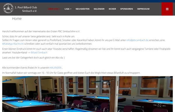 Vorschau von www.pbcsimbach.de, 1. PBC Simbach am Inn e.V.