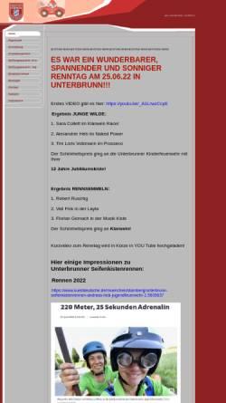 Vorschau der mobilen Webseite unterbrunner-seifenkistenrennen.de, Freiwillige Feuerwehr Unterbrunn