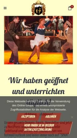 Vorschau der mobilen Webseite www.swingandthecity.com, Swing and the City, Christine von Scheidt