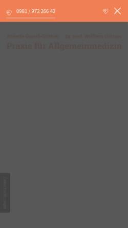 Vorschau der mobilen Webseite www.gareiss-grittner-arztpraxis.de, Gemeinschaftspraxis für Allgemeinmedizin GbR A. Gareiss-Grittner & W. Grittner