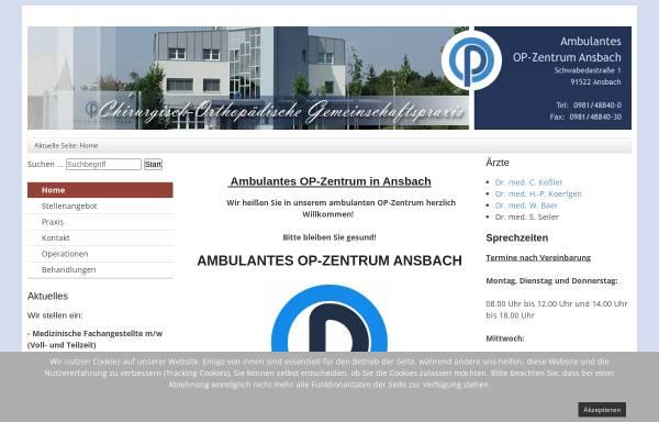 Vorschau von www.op-zentrum.de, Ambulantes OP-Zentrum Ansbach
