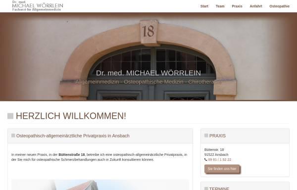 Vorschau von www.dr-woerrlein.de, Dr. med. Michael Wörrlein