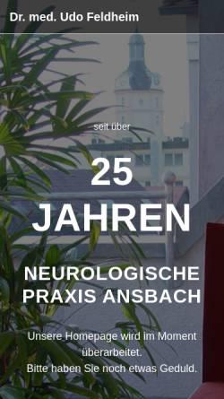 Vorschau der mobilen Webseite www.dr-feldheim.de, Neurologische Praxis Dr. med. Udo Feldheim