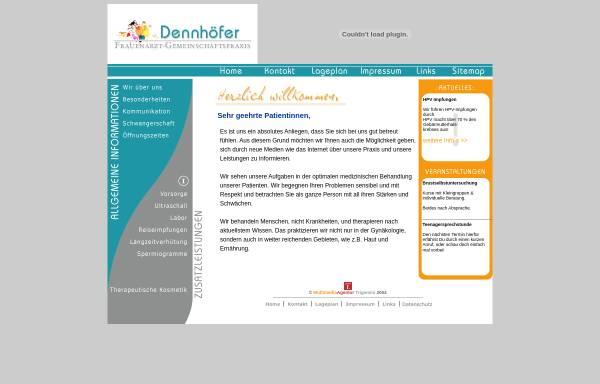 Vorschau von www.praxisdennhoefer.de, Gemeinschaftspraxis Dr. med. Dagmar Schuh-Dennhöfer & Dr. med. Karl Dennhöfer