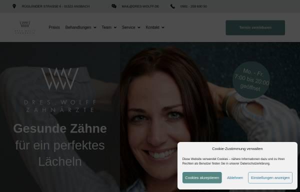 Vorschau von www.dres-wolff.de, Praxis für Zahnheilkunde Dr. Christoph Wolff & Dr. Maria Wolff-Kunze