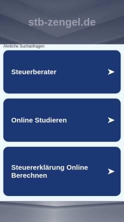 Vorschau der mobilen Webseite www.stb-zengel.de, Steuerberater Edgar Zengel