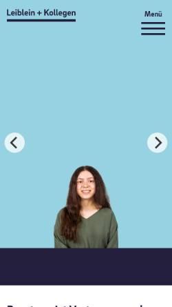 Vorschau der mobilen Webseite www.leiblein-stb.de, Eberhard Leiblein