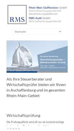 Vorschau der mobilen Webseite www.rms-wp.de, Rhein-Main-Treuhand GmbH