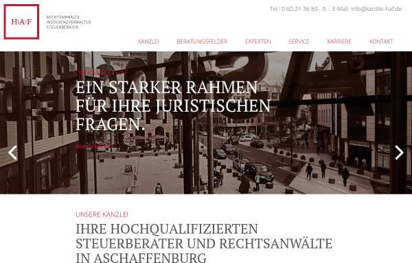 Vorschau von www.kanzlei-haf.de, HAF Rechtsanwälte, Insolvenzverwalter und Steuerberater