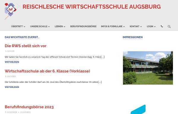 Vorschau von www.rws-augsburg.de, Reischlesche Wirtschaftsschule Augsburg