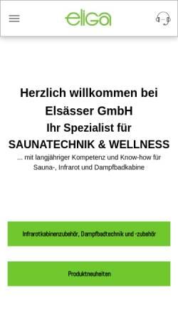Vorschau der mobilen Webseite www.eliga.com, Elsässer GmbH