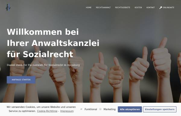 Vorschau von www.rechtsanwalt-zeeb.de, Zeeb Daniel