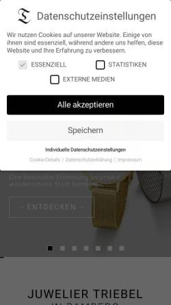 Vorschau der mobilen Webseite www.juwelier-triebel.de, Juweliere & Goldschmiede Triebel