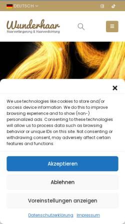 Vorschau der mobilen Webseite www.wunderhaar.de, Wunderhaar
