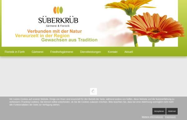 Vorschau von www.blumen-sueberkrueb.de, Gärtnerei Süberkrüb