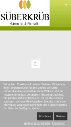 Vorschau der mobilen Webseite www.blumen-sueberkrueb.de, Gärtnerei Süberkrüb