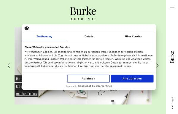 Vorschau von www.burke-akademie.de, Burke Akademie