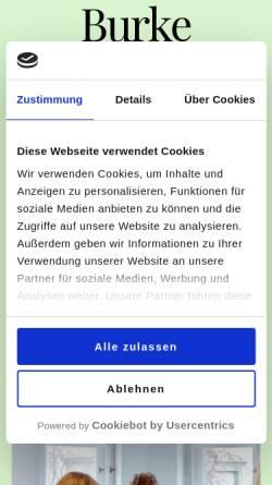 Vorschau der mobilen Webseite www.burke-akademie.de, Burke Akademie