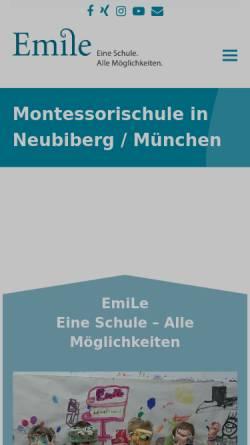 Vorschau der mobilen Webseite www.emile-montessori.de, Emile Montessori-Schule