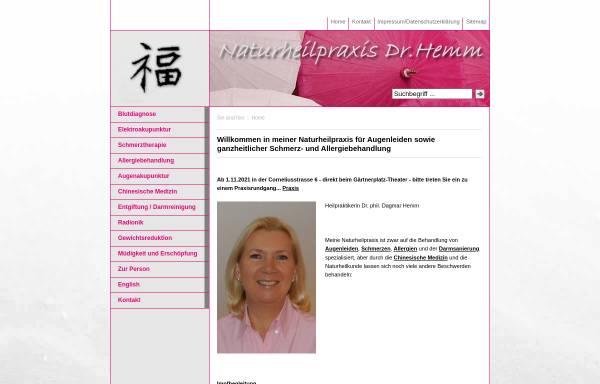 Vorschau von www.praxis-hemm.de, Dr. Dagmar Hemm