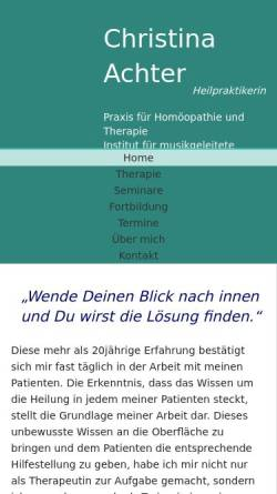 Vorschau der mobilen Webseite www.christina-achter.de, Christina Achter