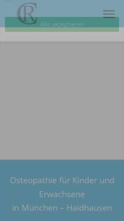 Vorschau der mobilen Webseite www.praxis-clarin.de, Rita Clarin