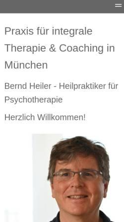 Vorschau der mobilen Webseite www.berndheiler.de, Bernd Heiler