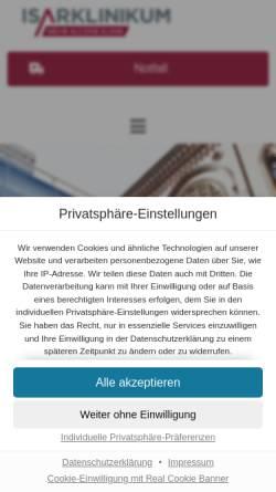 Vorschau der mobilen Webseite isarklinikum.de, Isar Klinikum